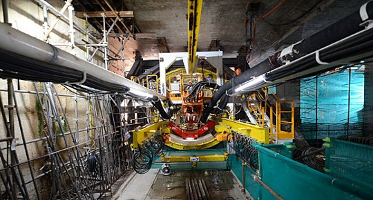 Tunnel boring robot ready to go for Ho Chi Minh City metro construction