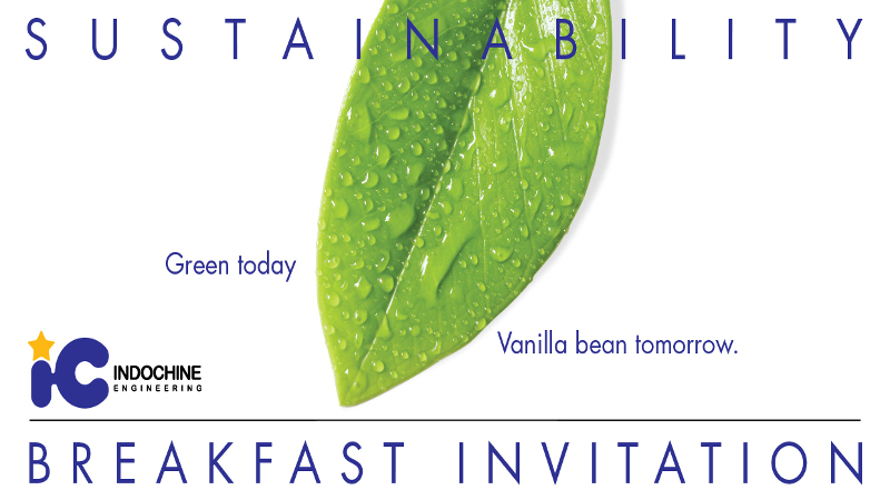All-inclusive approach to sustainability; Green today, vanilla bean tomorrow