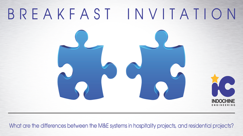 What are the differences between the M&E systems in hospitality projects and residential projects?